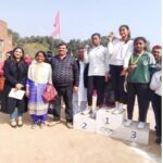 First position was bagged by Shriya Gupta  in 100m race and Gold medal in relay also. Second position acquired by Ananya Sahu in 100m race respectively during the sports day.