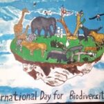 Morpheus Nag of class 8th participated in painting competition on Environment Day on theme 'International Day for Biodiversity' and bagged second prize